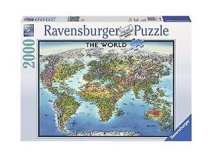 Ravensburger world map jigsaw puzzle 2000 piece free shipping image is loading ravensburger world map jigsaw puzzle 2000 piece free gumiabroncs Image collections
