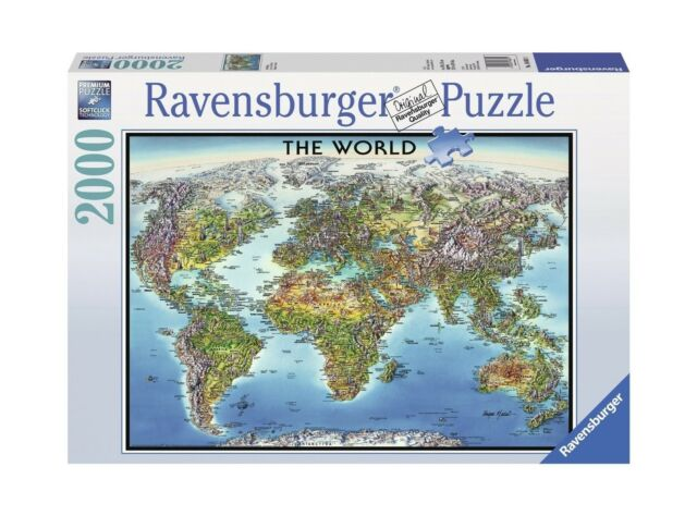 Ravensburger mountain canoes jigsaw puzzle 2000 piece unopened ebay ravensburger world map jigsaw puzzle 2000 piece free shipping gumiabroncs Image collections