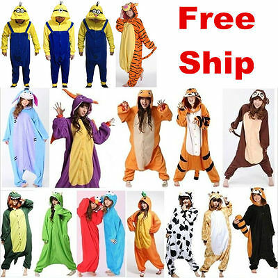 HOT!!Unisex Adult Onesies Dress Sleepwear Kigurumi Pajamas Anime Cosplay Costume