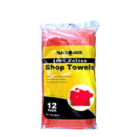 Red Shop Towels 100% Cotto (pack Of 12) - Pt725