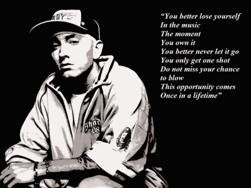 MOTIVATIONAL QUOTE POSTER PRINT EMINEM INSPIRATIONAL