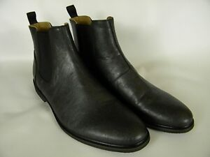 433a98c608b Details about NEW $165 ALDO MELISCIO Mens Sz 12 BLACK LEATHER CHELSEA BOOTS  MEDIUM NWOB 771811