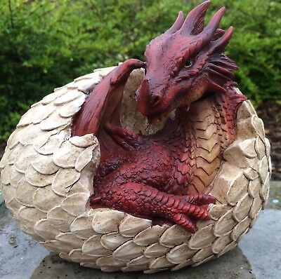 Red Dragon Spike Tail Vivid Arts Garden Ornament
