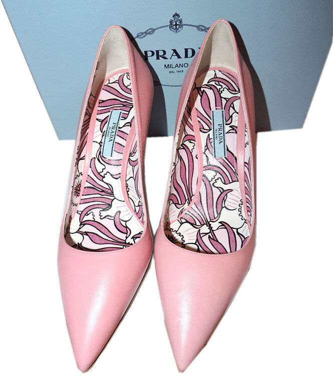 Prada Beige rose rose rose Leather Classic Pointy Toe Pumps chaussures 39 New 6f9efd