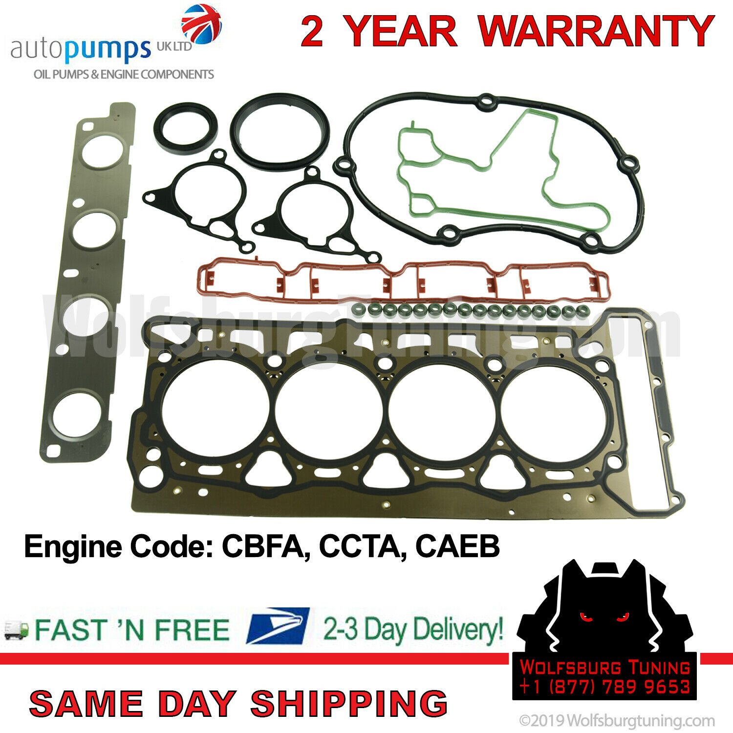 New Engine Cylinder Head Gasket /& Bolts Set For Audi A3 A4 TT VW GTI Jetta