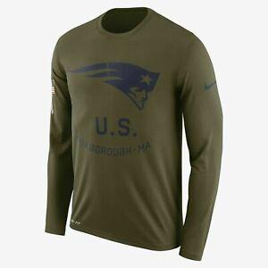 Armstrong Disfraces puñetazo  Nike New England Patriots saludo a servicio Mangas Largas Camiseta Tom Brady  | eBay