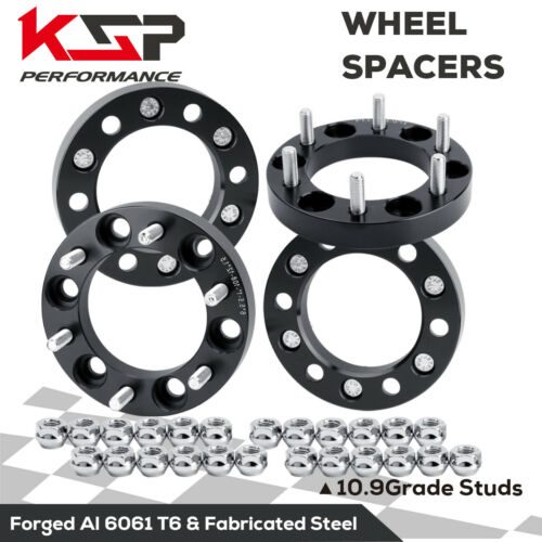 4X Wheel Spacer Adapters 1/'/' Thick 6X5.5 12x1.5 Fit For GMC Tacoma 4Runner 6 Lug