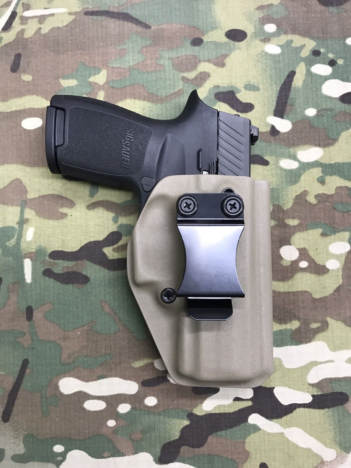 FDE Kydex IWB Holster for SIG P320 Compact Appendix Draw