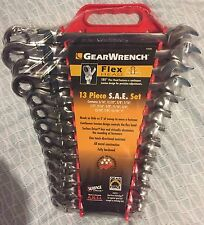 GearWrench 9702D 13 Piece Flex-Head Combination Ratcheting Wrench Set SAE 9702