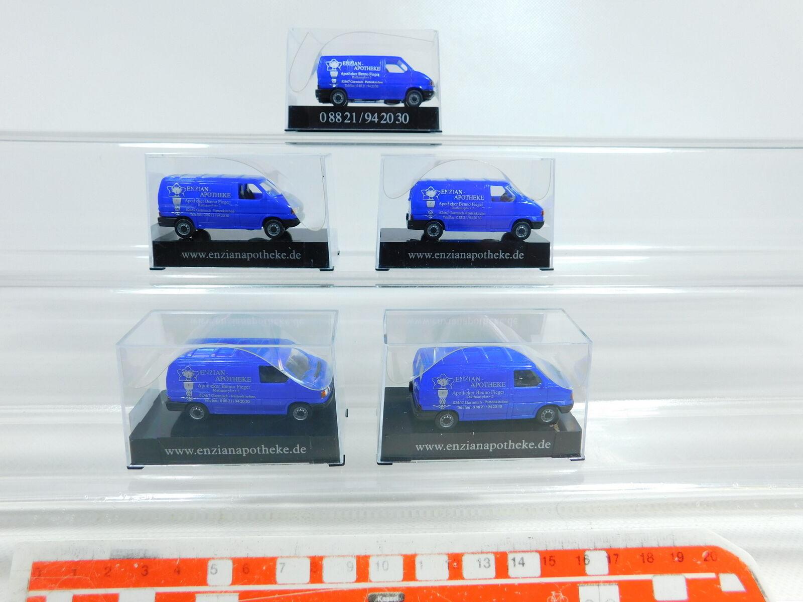 BX234-0, 5 x AWM   Amw 1 87 H0 57865 Volkswagen VW T4 Enzian-Apotheke, Nip