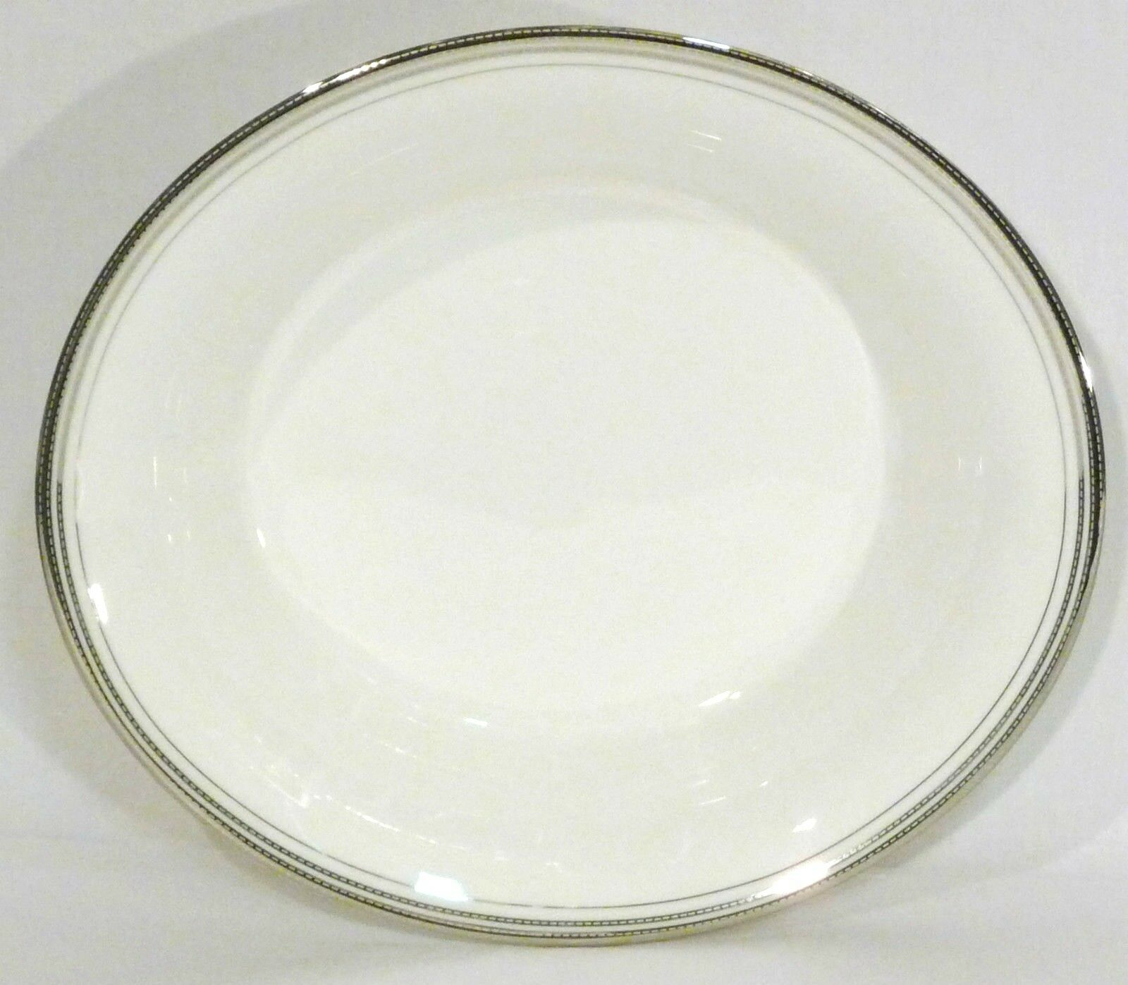 Monique Lhuillier for Waterford Platine Oval Vegetable Bowl 10 1 2 L