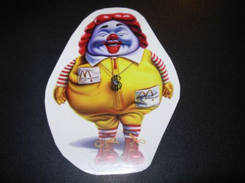 RON ENGLISH POPAGANDA McSupersized Clown 4.75 Sticker decal frm poster art print