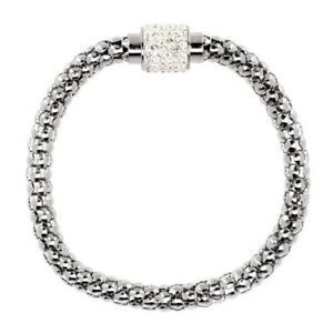QVC-Steel-by-Design-Crystal-Popcorn-Chain-Bracelet-Clear-Magnetic-97