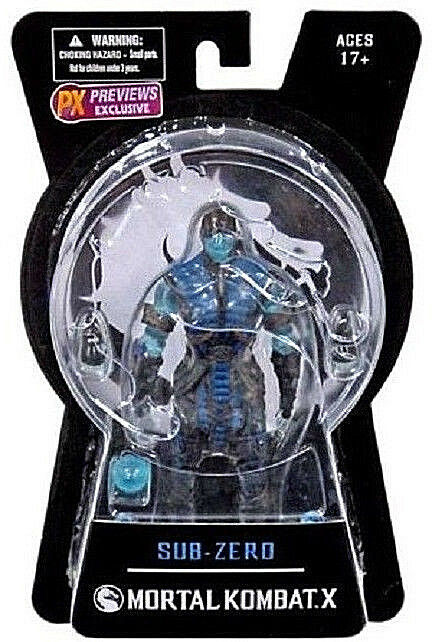 Mortal Kombat X__SUB-ZERO Ice Variant Exclusive 6 inch action figure_New and MIP