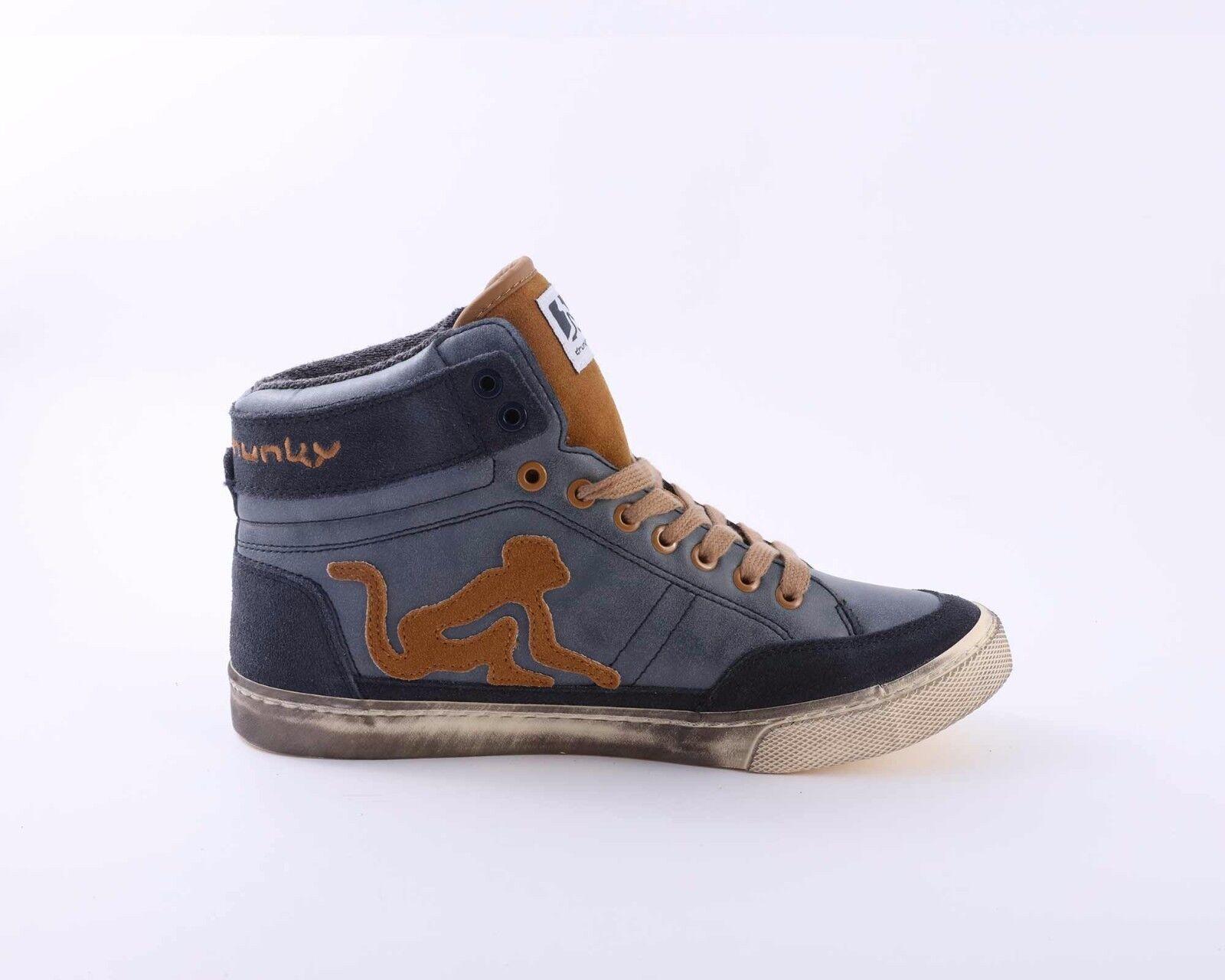 84,90 -20 DRUNKNMUNKY Chaussures SNEAKERS ALTE BOSTON VITAMINIX VINTAGE INVERNO