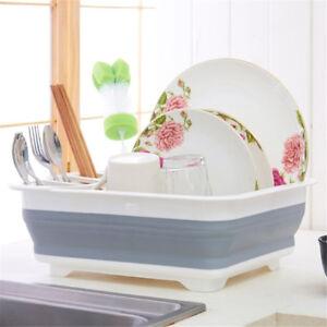 Foldable-Dish-Rack-Plates-Drying-Rack-Kitchen-Storage-Bowl-Holder-DrainerFJ