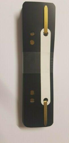 25 Stück Heftrücken aus Kunststoff Farbe schwarz