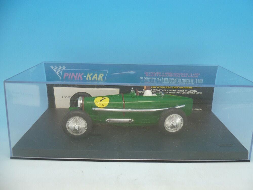 Pink Kar CV013 Bugatti Type 59 in Green, Rare Blank Base, mint unused boxed
