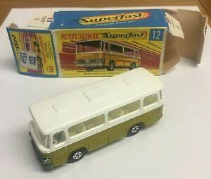 Vintage-MATCHBOX-SUPERFAST-No-12-Setra-Coach-Mint-In-Box-Free-UK-Postage