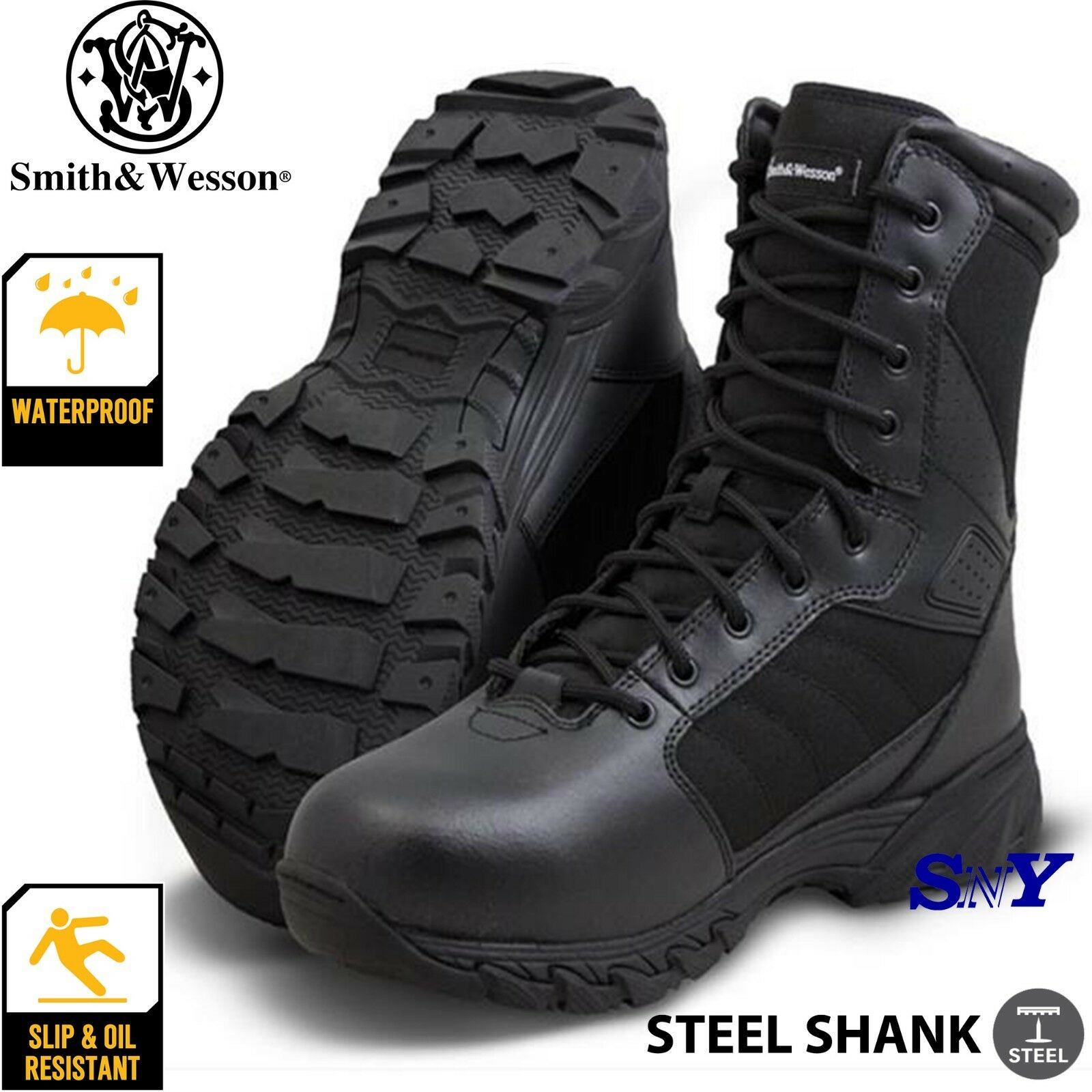 Law Enforced Police Military Tactical boots Waterproof Slip Resistant boot tg