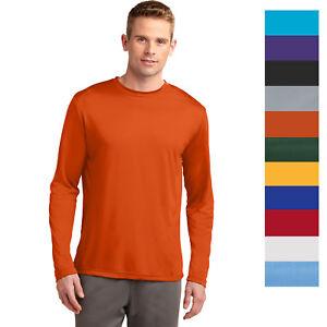MEN/'S MOISTURE WICKING Dri fit Long Sleeve SPORT-TEK T-shirt NEW XS-4XL ST350LS