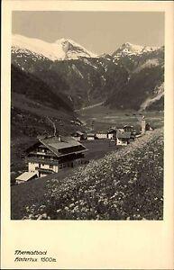 Thermalbad-Hintertux-Tirol-Osterreich-s-w-AK-1939-45-Blick-ins-Tal-ungelaufen