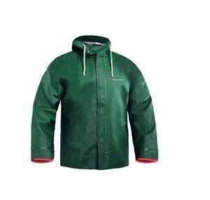 QualitäT In Grundens Brigg 40 Jacket Green Raincoat Ölzeug Friesennerz Regenjacke Ausgezeichnete