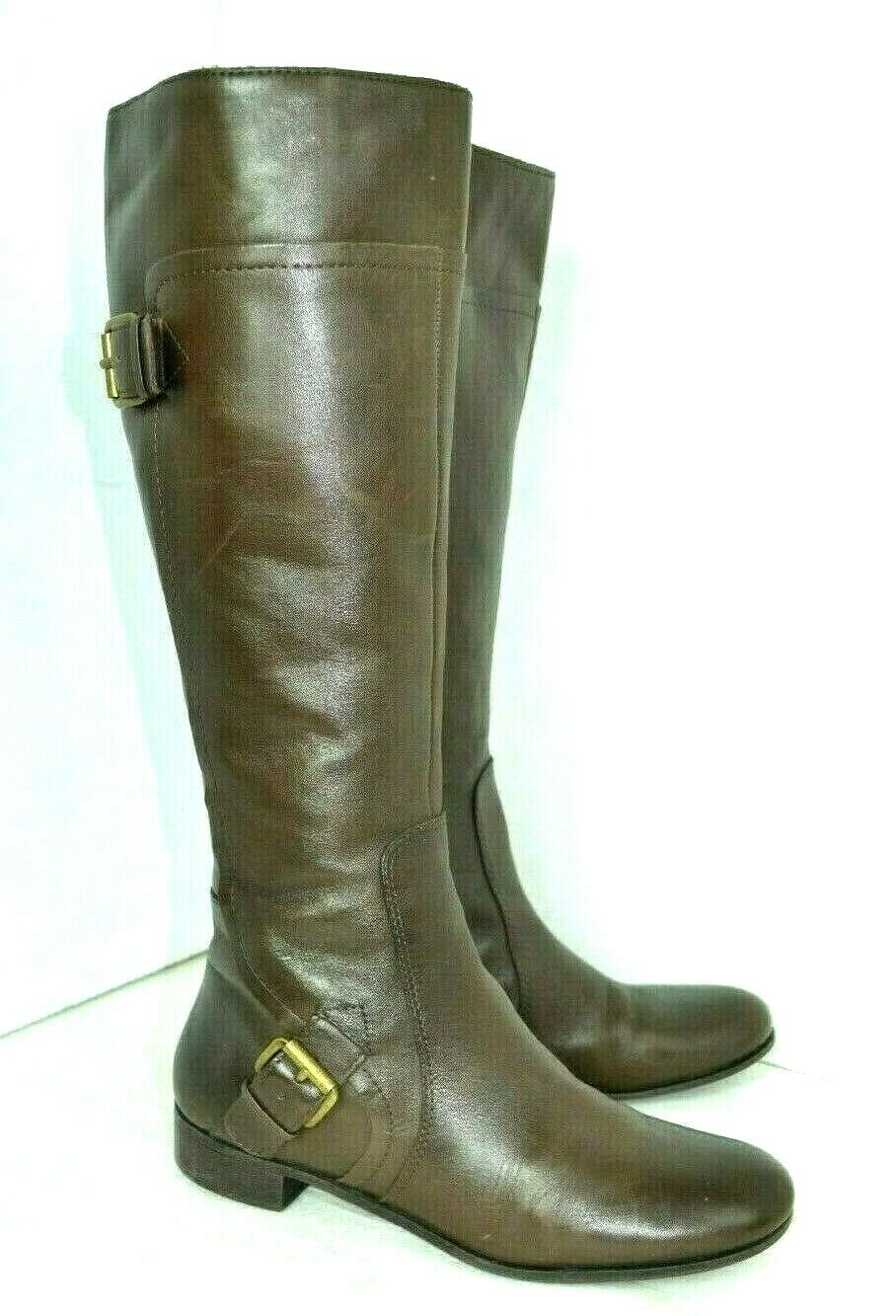 NINE WEST VINTAGE AMERICA BROWN GENUINE LEATHER BOOTS SIZE 7 M