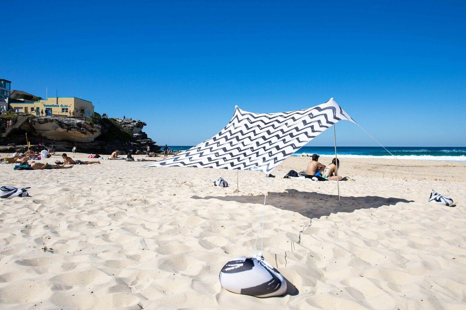 OZoola Swell Beach Tent With Sandbags UPF 50+ Sun Protection