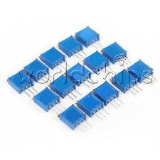 15pcs Potentiometer Assorted Kit Variable Resistor Resistive 15value 3296trimmer