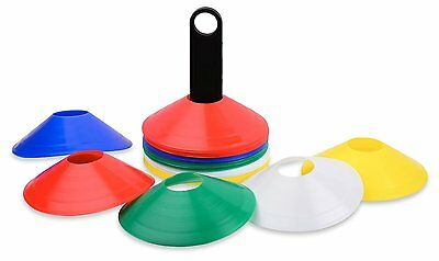 NEW 50 MULTI-COLOR DISC CONES WITH CARRIER