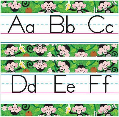Monkey Mischief Abc Jumbo Alphabet Line School Classroom Display Border Ebay