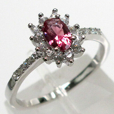 SPECIAL PRICE BIN $14.99 PRETTY OVAL SHAPE RUBY 925 STERLING SILVER RING SIZE 8
