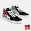 Vans-x-David-Bowie-Sk8-Hi-UK-8-US-9-Noir-edition-limitee-Rare miniature 1