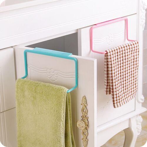Kitchen Cupboard Towel Rack Hanging Holder Organizer Bathroom Cabinet Hanger US