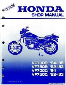 1982 1985 honda vf700c magna vf750s v45 sabre motorcycle service rh ebay com 1995 Honda Magna 750C 1995 Honda Magna Deluxe