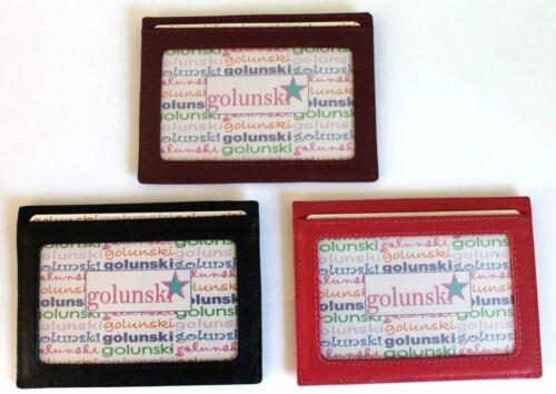 Golunski en cuir travel pass id /& carte de crédit titulaire oyster tram train bus