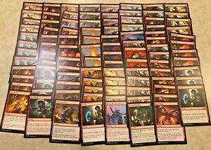 MTG Job Lot x 100 Magic the Gathering Cards Common /& Uncommon Mixed Colours NM//M