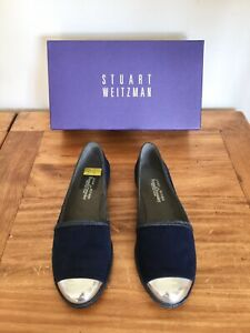 Russell-amp-Bromley-New-With-Box-TIPADRILLE-Blue-Suede-Luxury-Espadrille-UK-6