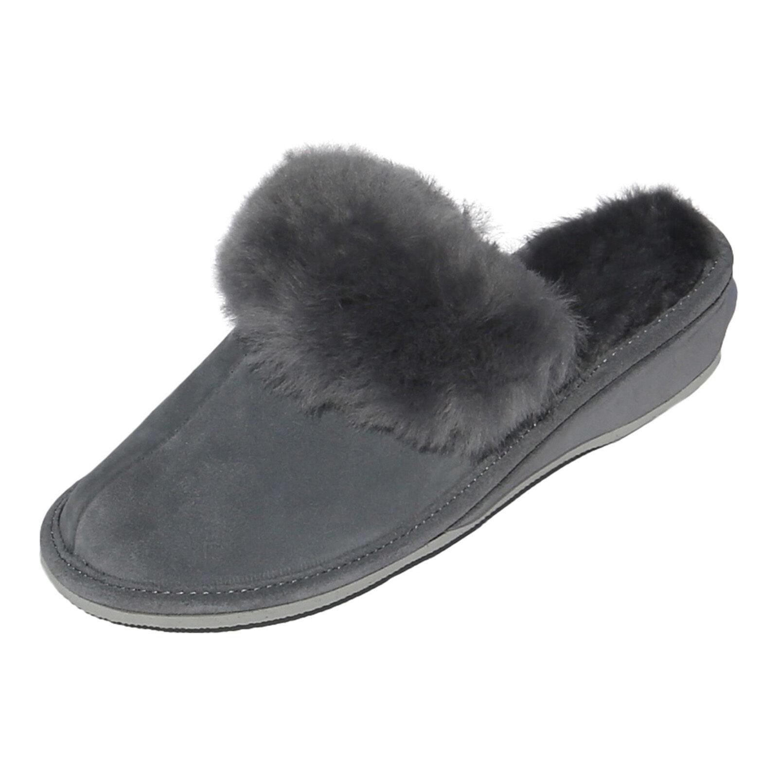 Pelle di Pecora Scarpe Pantofole Marocco Grigio Donna Scarpe Pecora Pelliccia 070e72