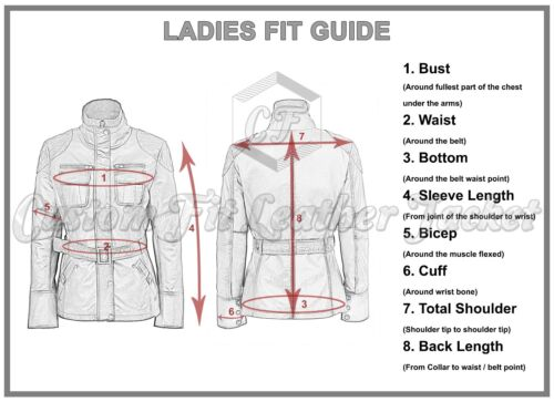 3061 Ladies Leather Jacket Black Fashion Cool Retro Biker Style 100/% Leather
