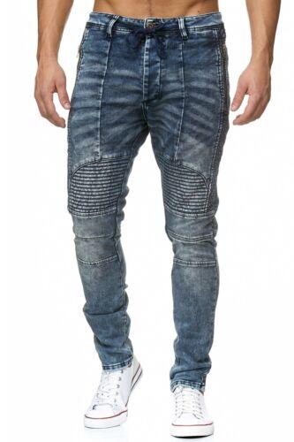 Justing Jeans Uomo pantalone denim blu scuro elasticizzato bike slim ST6551