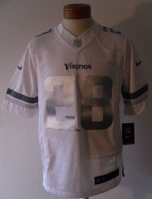 timeless design 23e89 e8e4a Nike Small Minnesota Vikings Adrian Peterson AP 28 White Platinum Limited  Jersey