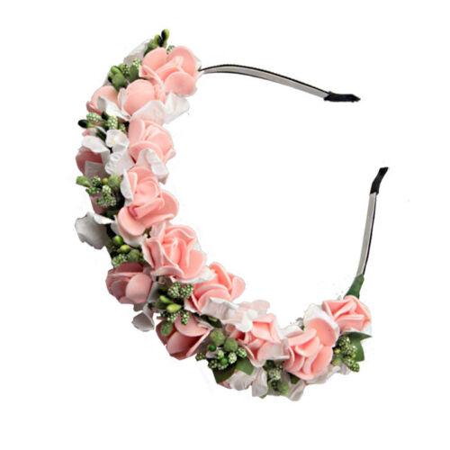Women/'s Bride Flower Headband Crown Hairband Wedding Hair Garland Wreath Party