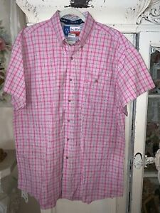 Vintage 90s Long Sleeve Men/'s XXL 2XL Wrangler George Strait Western Cowboy Cut Plaid Button Down Shirt
