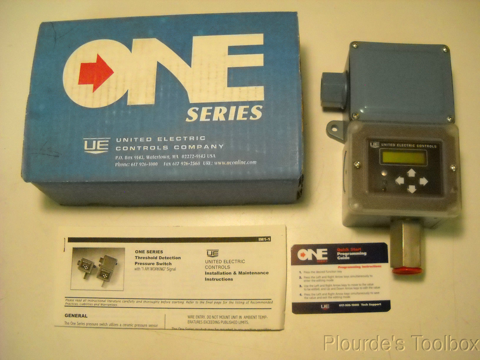 New United Electric One Series Threshold Detection Pressure Switch 50psi, D1B1BN