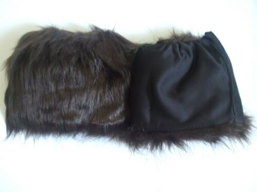New Faux Fur A pair Leg Warmer Muffs Boots Shoes cover 5-15/""