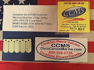 CCMS Mercury Race Reed /& Stuffer Kit V6 135-200HP for 5 Leaf Cages PN.265R+ST5