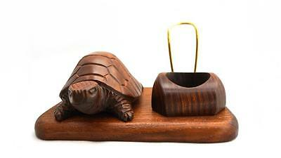 New Hand Carving Wood Pipe stand rack Holders * Turtle * Case Display Handicraft