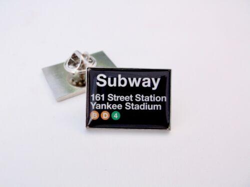 YANKEE STADIUM SUBWAY 161 STREET STATION LAPEL PIN BADGE TIE TACK CLIP GIFT